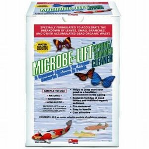 microbe lift spring/summer cleaner pond water treatment